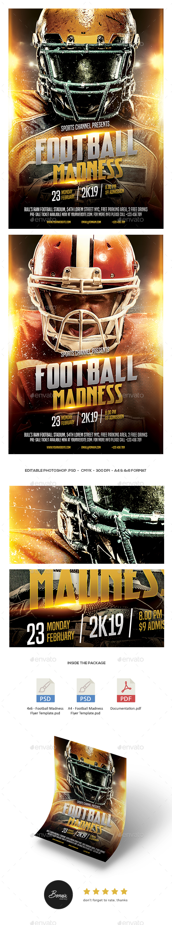 GraphicRiver Football Madness Flyer 21189411