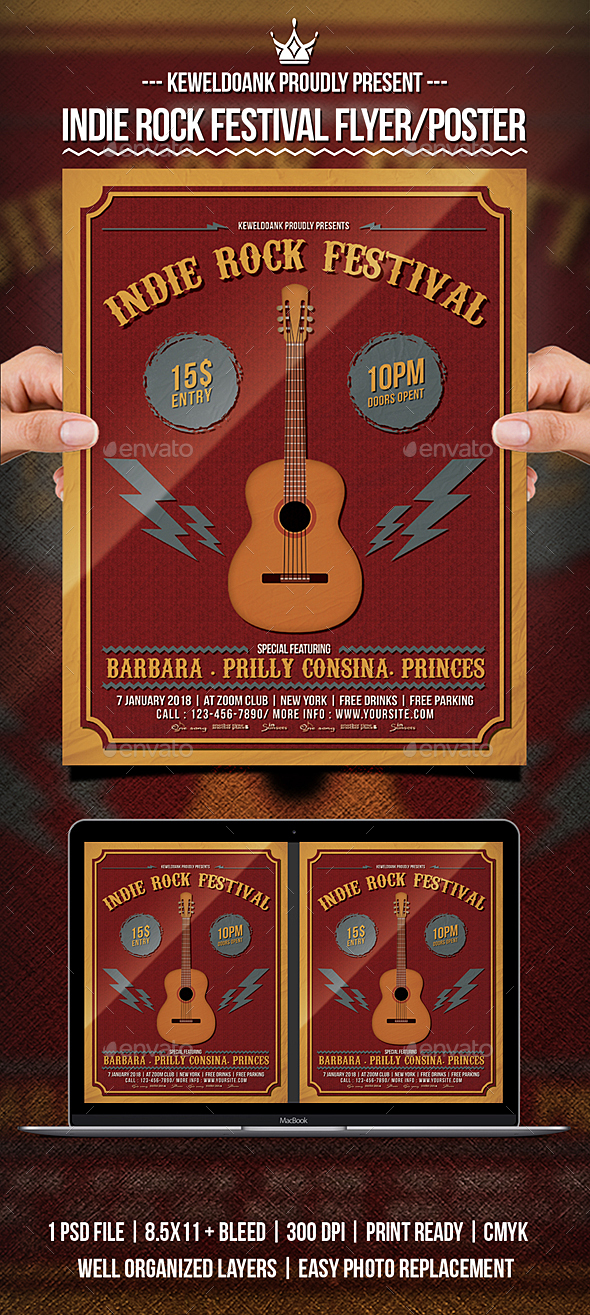 GraphicRiver Indie Rock Festival Flyer Poster 21189413