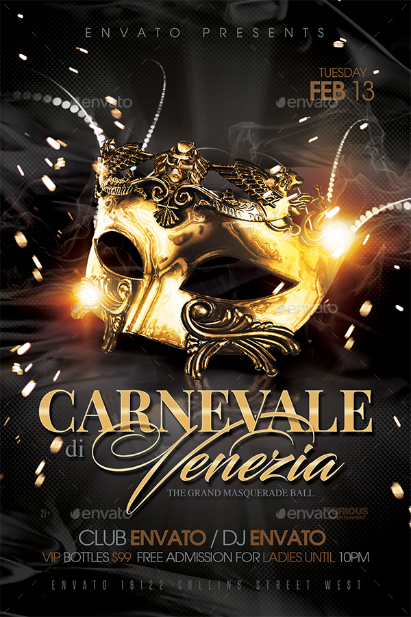 Masquerade Ball Flyer Template