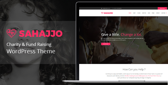Sahajjo - Charity / Fundraising Nonprofit  WordPress Theme