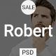 Robert - Personal Portfolio PSD Template - ThemeForest Item for Sale