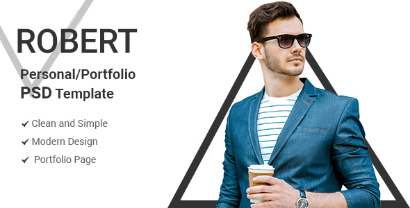 Robert - Personal Portfolio PSD Template Free Download | Nulled