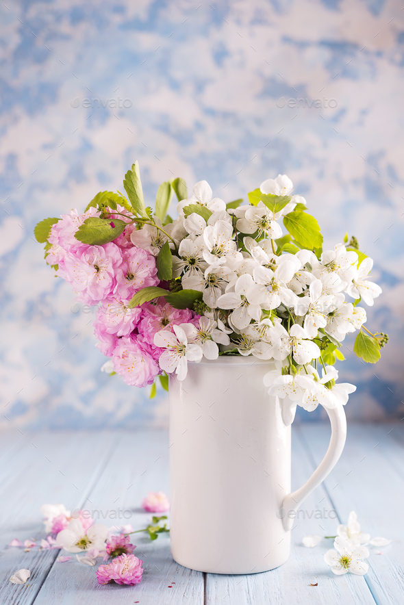 Festive flower composition - Stock Photo - Images