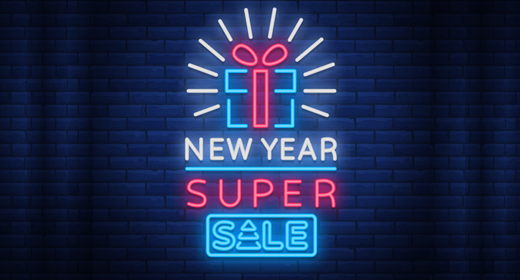 New year 2018 sale
