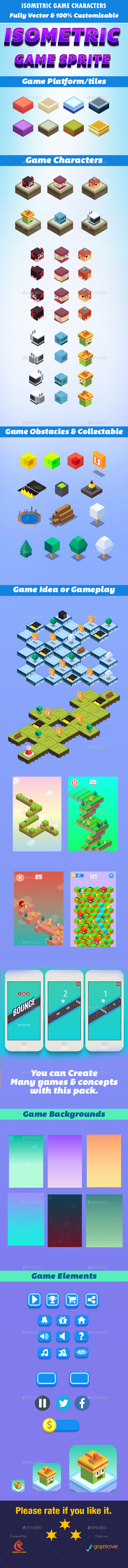 Isometric Game Character Sprite - Game Kits Game Assets