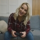 Cheerful Woman Playing Video Game - VideoHive Item for Sale