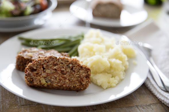 Lentil Loaf Dinner - Stock Photo - Images