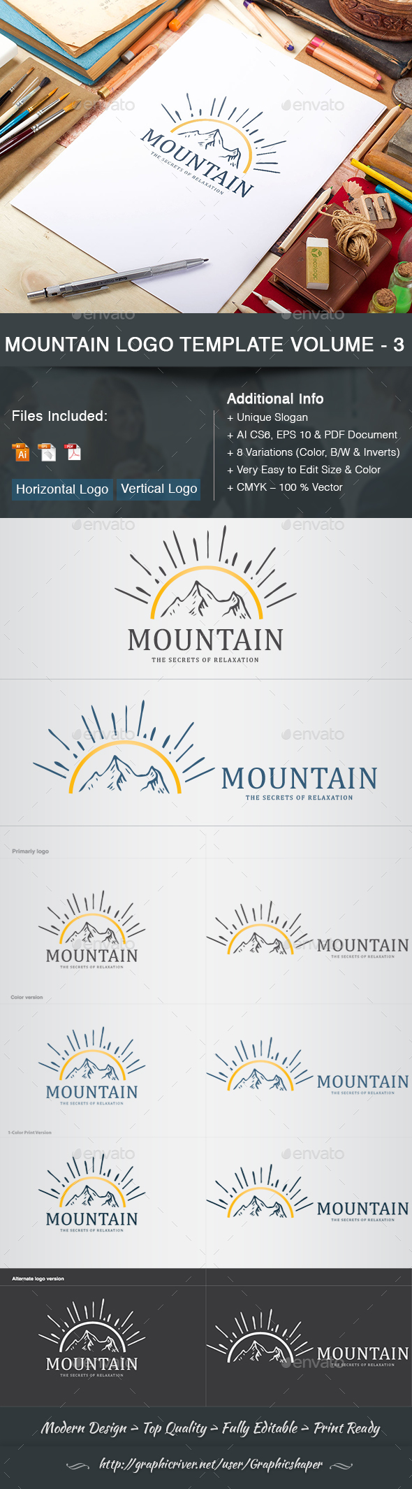 GraphicRiver Mountain Logo Template Volume 3 21189869