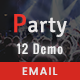 Party - Multipurpose Responsive Email Templates - ThemeForest Item for Sale