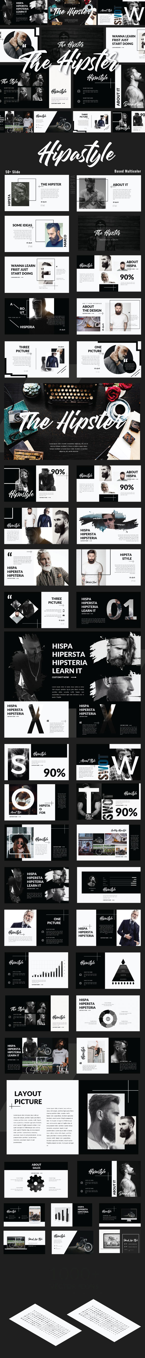 GraphicRiver The Hipster Google Slide Presentation 21190053