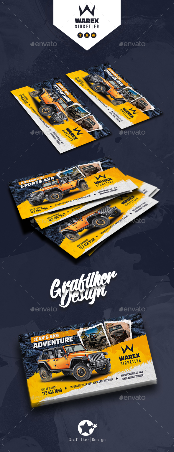 GraphicRiver Off-Road Adventure Business Card Templates 21190060