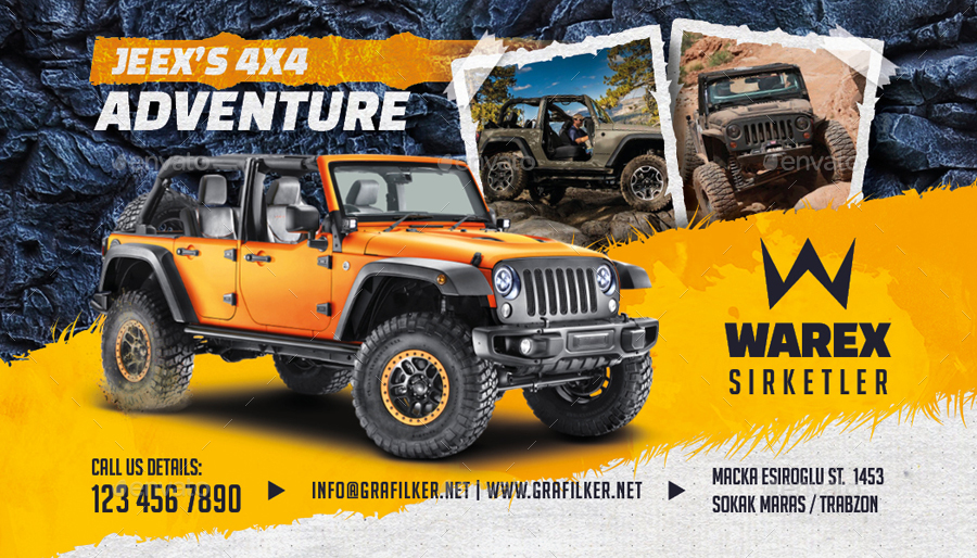Off-Road Adventure Business Card Templates