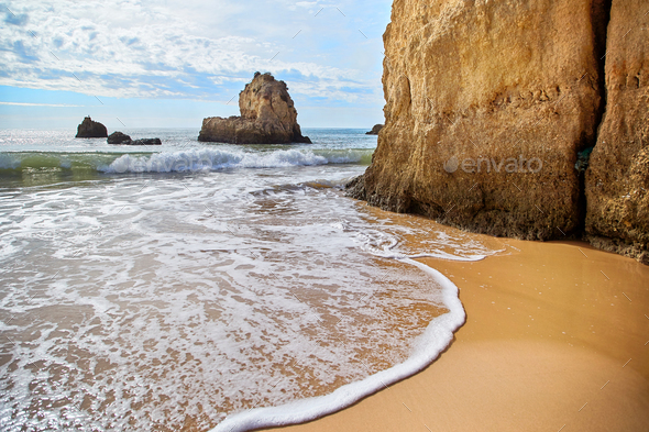 Portimao beach in Algarve, Portugal - Stock Photo - Images