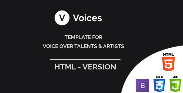 ThemeForest Voices HTML Template for Voice Over Tallents 21190088