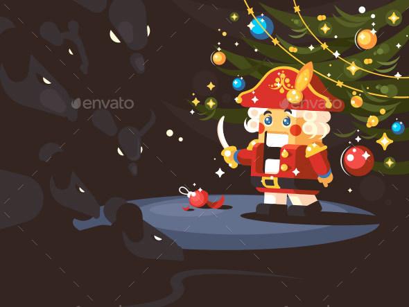 Character of Nutcracker - Christmas Seasons/Holidays