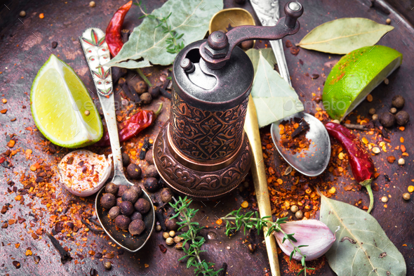 Big set of spices - Stock Photo - Images