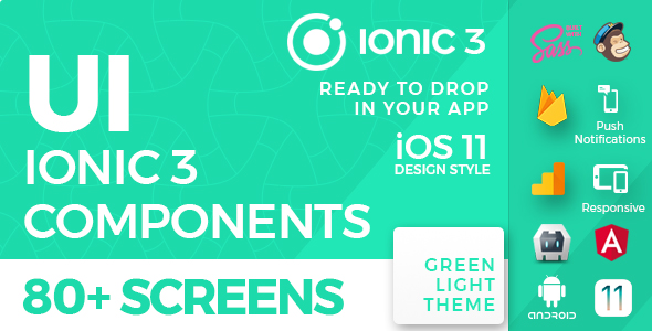 Ionic 3 UI Theme / Template App - iOS 11 style - Green Light Nulled Scripts
