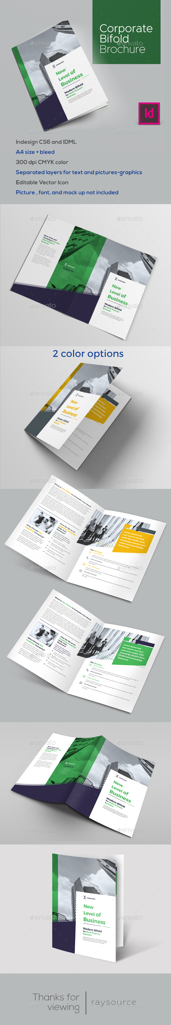 GraphicRiver Corporate Bifold Brochure 21190312