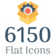6150 Flat Icons Bundle - GraphicRiver Item for Sale