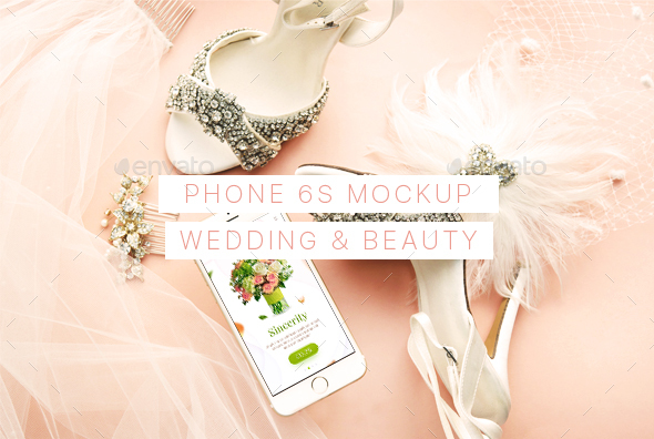 GraphicRiver Wedding and Beauty Phone 6 Mockup 21190595