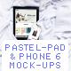 Pastel Colors Phone & Pad Mockup