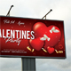 Valentines Day Party Outdoor Banner - GraphicRiver Item for Sale