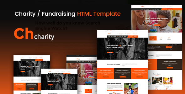 Chcharity - Charity / Fundraising HTML Template - Nonprofit Site Templates