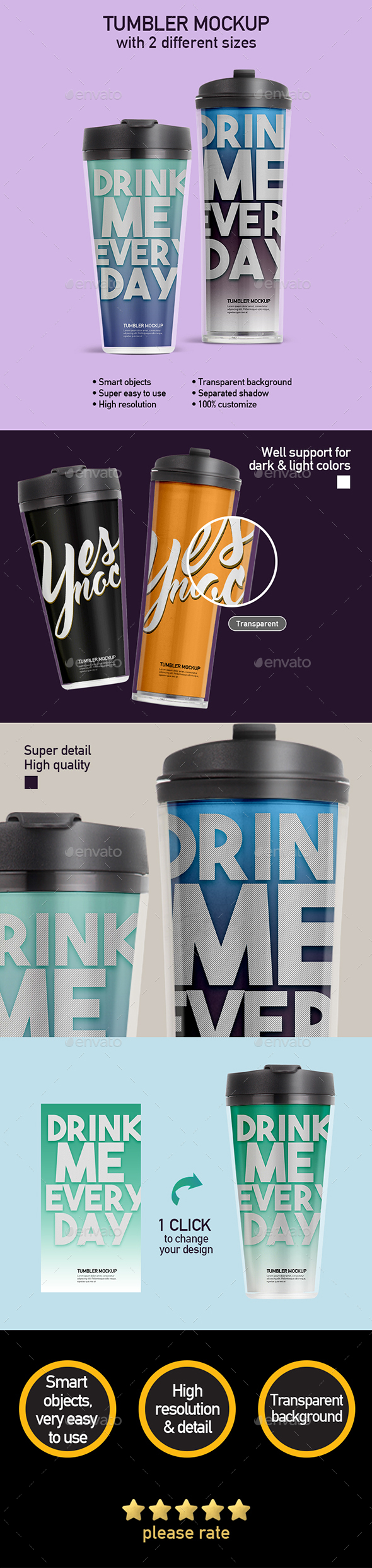GraphicRiver Acrylic Tumbler Mock-up 21190792