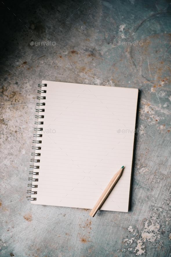 Blank white notepad - Stock Photo - Images