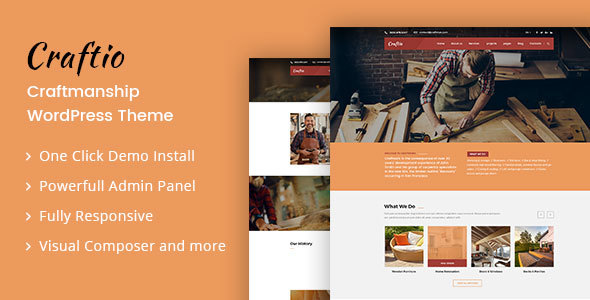 Craftio - Carpenter WordPress Theme - Business Corporate