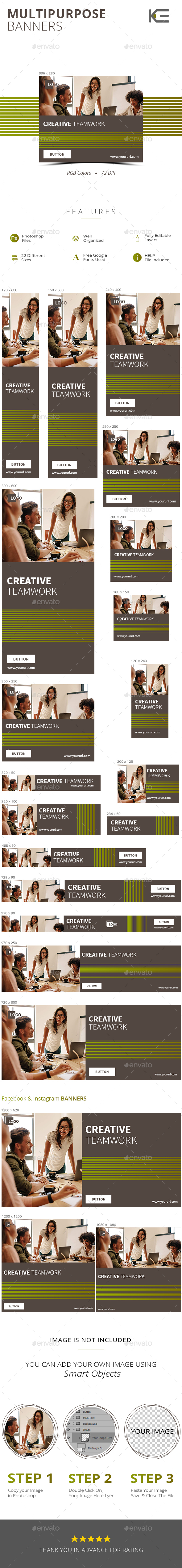 GraphicRiver Multipurpose Banners 21190883