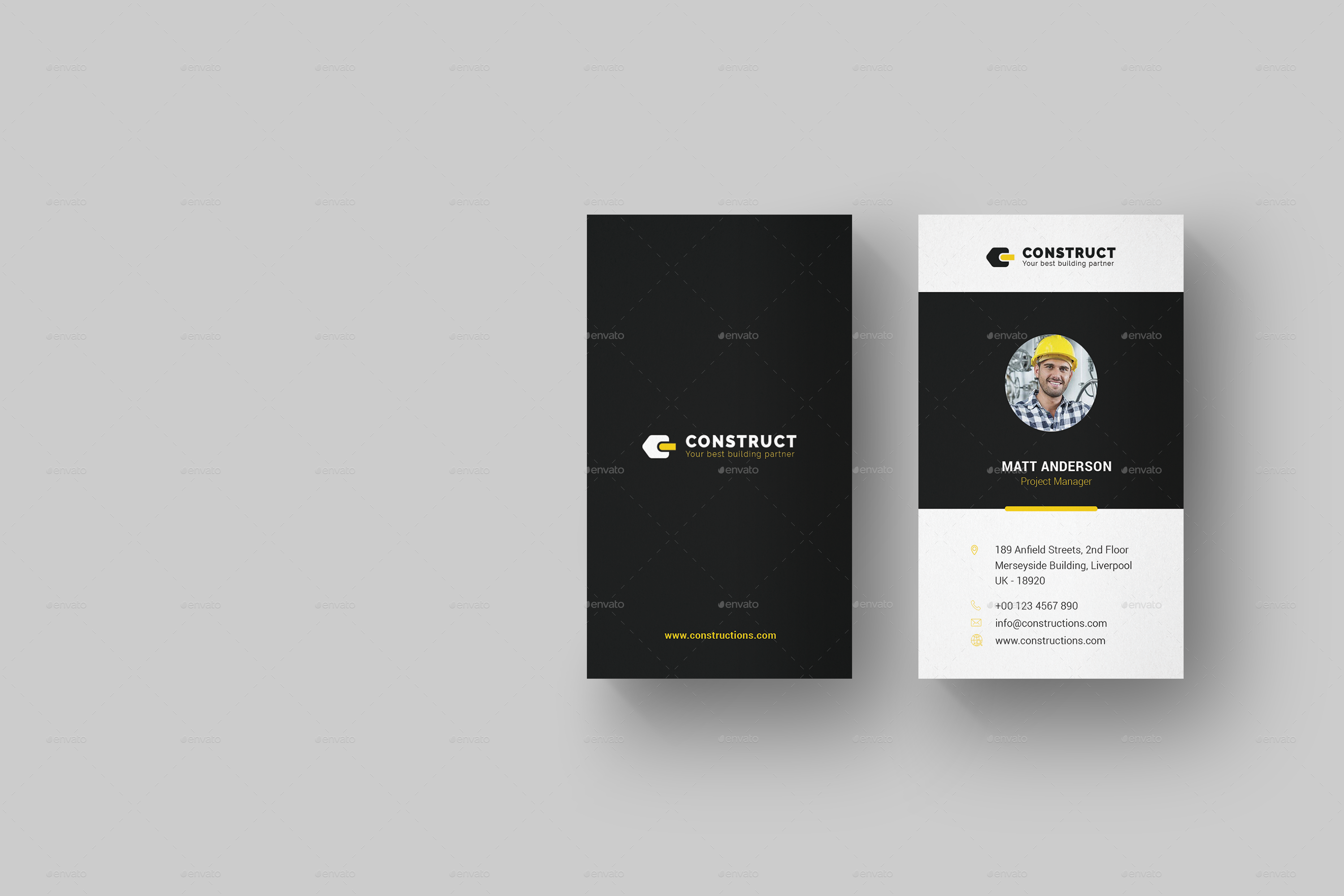 Construct multipurpose business card template by onegraphics previewset01previewconstructverticalbusinesscardg reheart Gallery