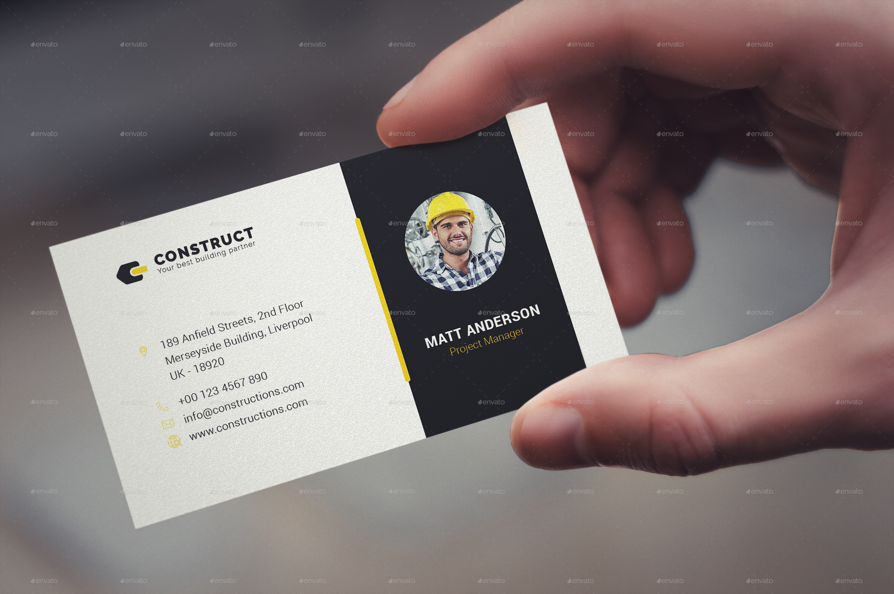 Construct | Multipurpose Business Card Template by one_graphics ...