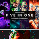 Five in 1 Photoshop Actions Bundle