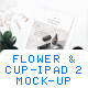 Pad 2 Mockup (Flower & Cup) - GraphicRiver Item for Sale