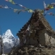Buddhist Stupa and Snow Mountain - VideoHive Item for Sale