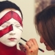 Makeup Artist Drawing Outline on the Model's Face - VideoHive Item for Sale