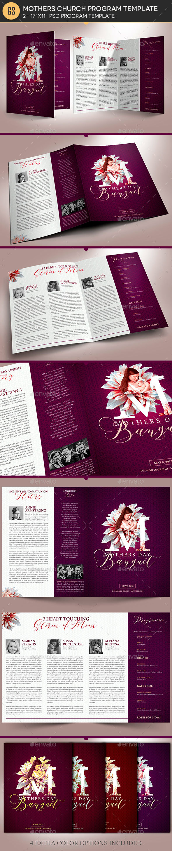 Mothers Day Church Program Template - Informational Brochures