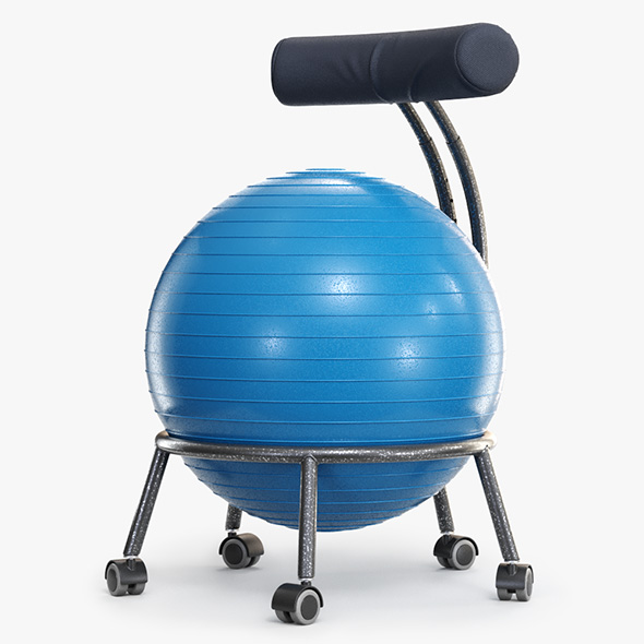 Yoga Ball Office Chair - 3DOcean Item for Sale