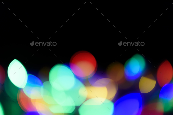 Abstract blurred christmas ligth background - Stock Photo - Images