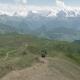 Girl Hikes in the Mountains - Koruldi Lakes Area, Mestia,Georgia - VideoHive Item for Sale