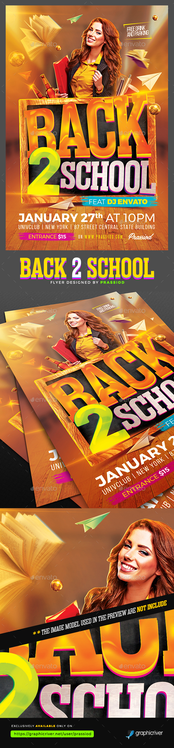Back 2 School Flyer Template - Clubs & Parties Events