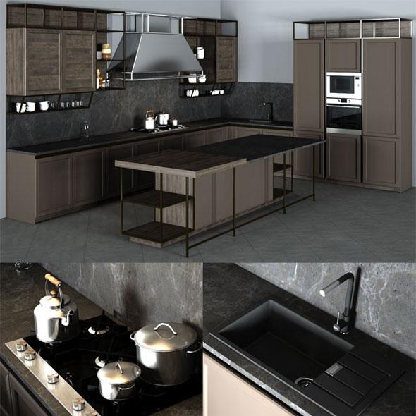 Frame Snaidero Kitchen Furniture - 3DOcean Item for Sale