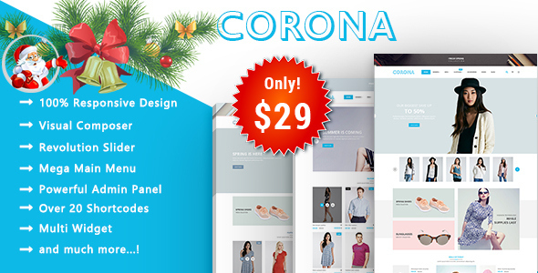 Corona - Fashion Responsive WooCommerce WordPress Theme