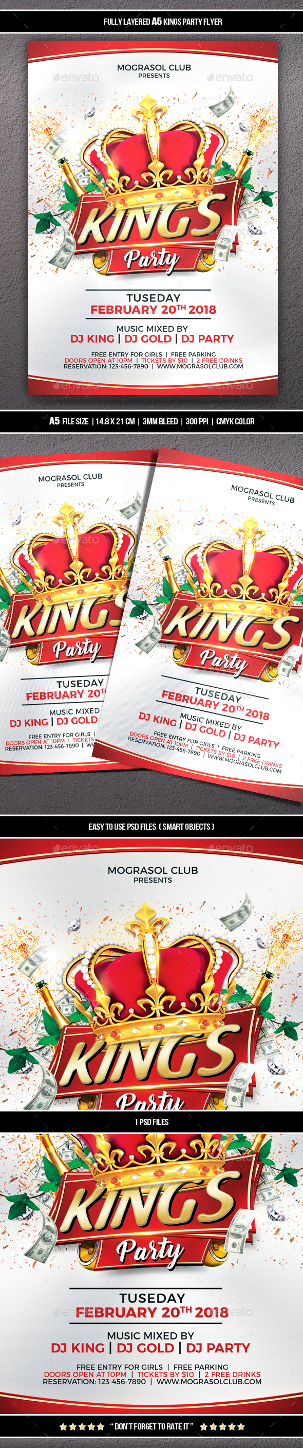 GraphicRiver Kings Party Flyer 21191546