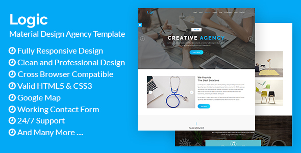ThemeForest Logic Material Design Agency Template 21095845