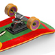 Skateboard Unwrapped 3D Model - 3DOcean Item for Sale