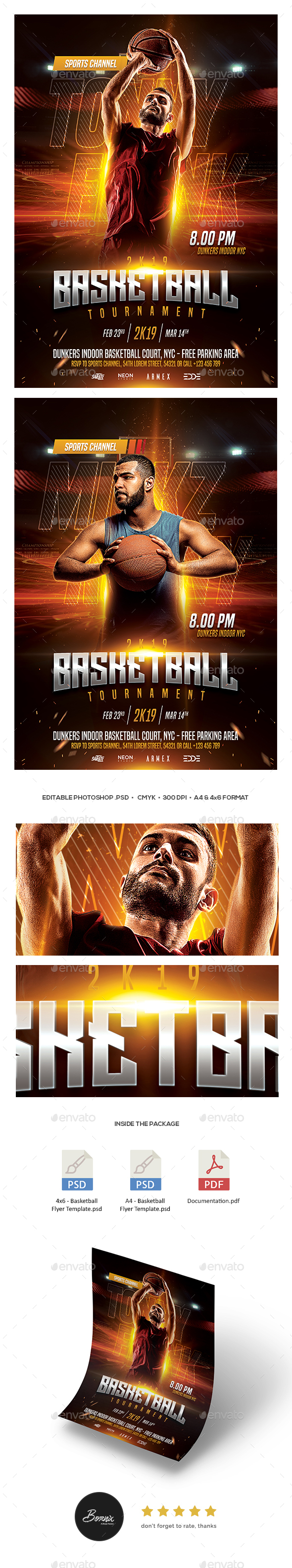 GraphicRiver Basketball Flyer Template 21191895