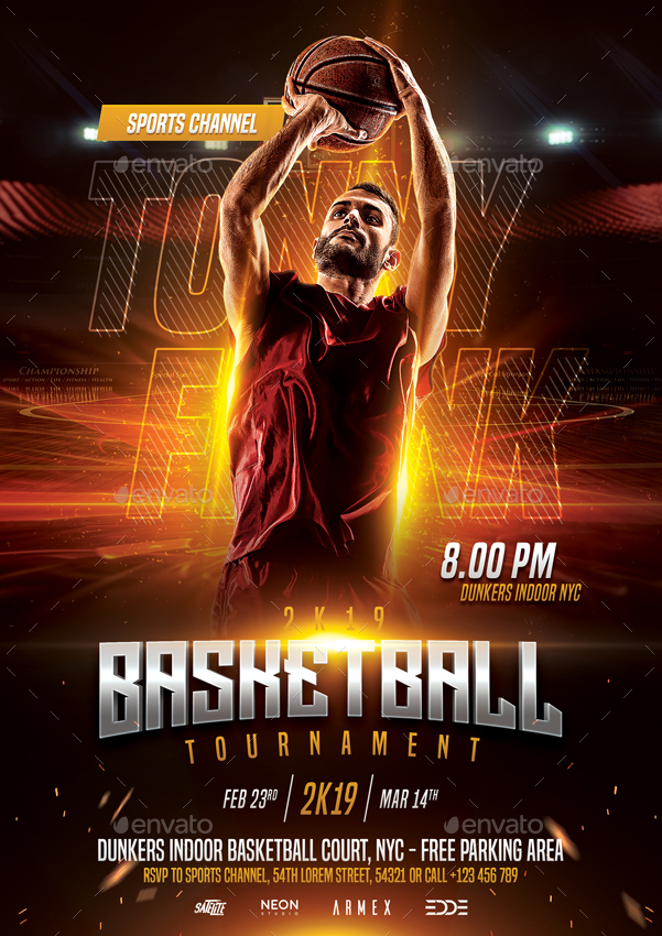 Basketball Flyer Template By Bornx Graphicriver