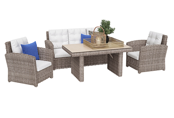 Outdoor furniture set 03 - 3DOcean Item for Sale